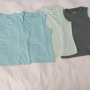 Sleeveless workout shirts